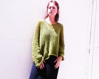 Hand knit oversize sweater