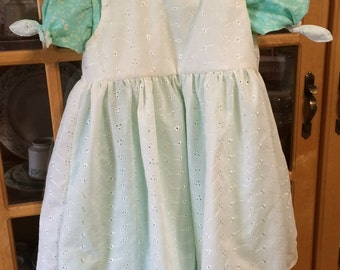Dress with eyelet pinafore - girl's size 5