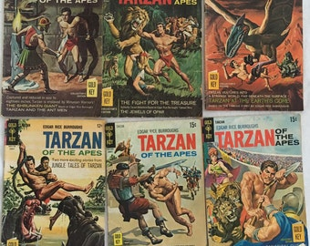 18 Vintage Comic Books 1960's Tarzan, Mickey Mouse, Donald Duck