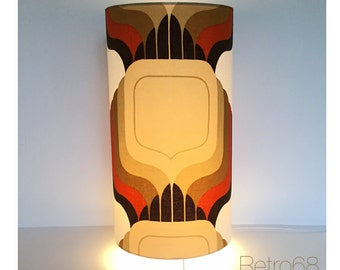 Vintage 60s 70s Graphic Fabric Table Lamp / Floor Lamp / Side Light