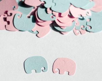 Elephant Baby Shower, Elephant Confetti, Gender Reveal Baby Shower, Twins Baby Shower
