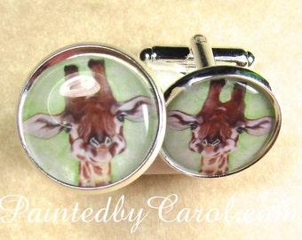 """Shop """"giraffe jewelry"""" in Cuff Links & Tie Clips"""