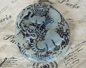 Antique Style kylin Jade Pendant Chinese kylin Jade Pendant Gemstone bead Amulet Talisman Carved jade pendant