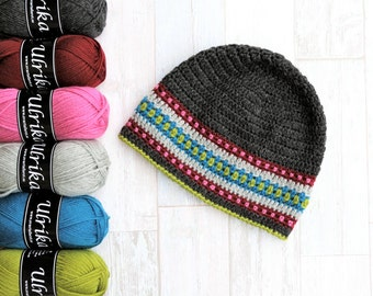 SALE!!! Nordic Hat YARN PACK  Charcole - 6 balls of Ulrika yarn, 100% Superwash wool, Worsted/10ply