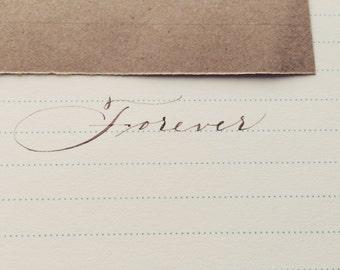 Ghost Writer Hand Written Calligraphy Love Letter Keepsake Letter to the Bride