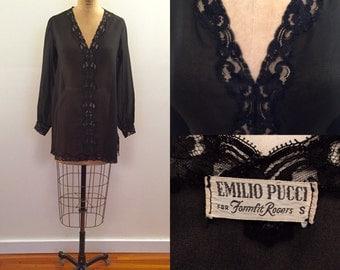 Emilio Pucci for Formfit Rogers black ls nightie