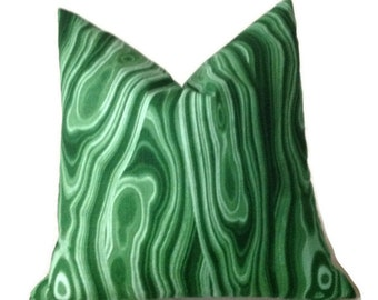 Robert Allen Malakos Pillow Cover in Malachite, Green Decorative Throw Pillow, Accent Pillow, Bold Home Decor