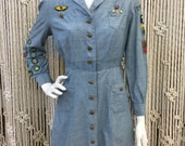 Authentic 1940's Girl Scout Uniform with original patches