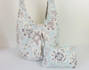 Purse, Hobo Bag, Original Design Cotton Hobo Shoulder Bag with Bonus Cosmetic Bag