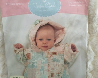 Cute as a Button Baby Jacket Pattern by Jackie Clark Designs Sewing Pattern UC FF Uncut 18 to 24 mo months quilting