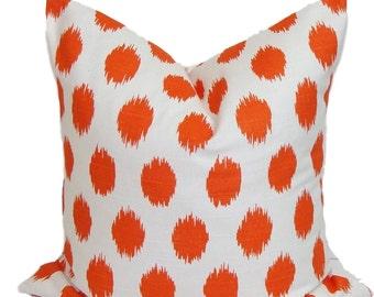 ORANGE Pillow Sale, Pillow Cover, Orange Decorative Pillow, 16x16, 18x18, 16x16, 22x22, 26x26 and more-ALL SIZES, Orange Euro, Cushion,Sham
