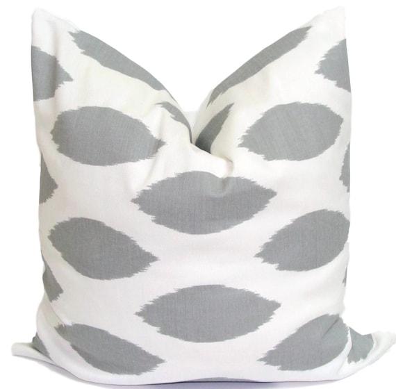 GRAY PILLOW.20x20 inch.Pillow Cover.Gray Decorative Pillows.Throw Pillow.Grey Pillow.Gray Pillow.Ikat.Housewares.Cushion.Cm.20x20 Inch Gray