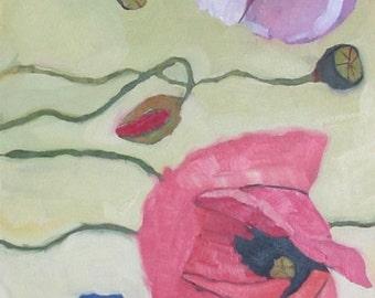Poppies Original Oil Painting
