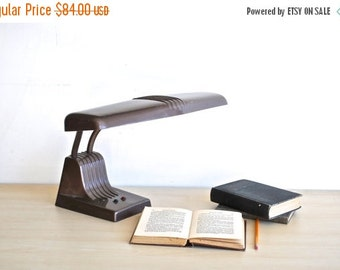 ON SALE Mid-Century Desk Lamp | Gooseneck Industrial Dazor Light