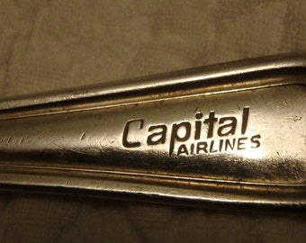 Capital Airlines Silver Plated Teaspoon