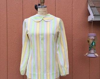 1970's homemade long sleeve blouse