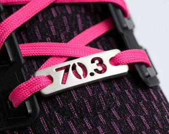 70.3 - 1/2 Ironman, or 140.6 Ironman Triathlon Shoe Tag Charm, ATHLETE INSPIRED, Tri Shoe Charm, Triathlon Gifts, Triathlon Jewelry