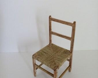 """Chaise empaillée """"Esprit campagne"""""""