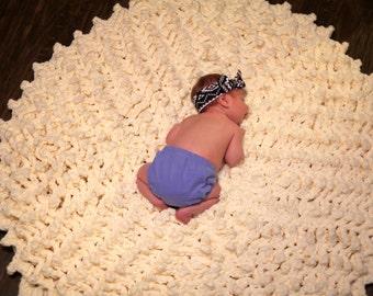 Baby Nursery 40 inch Giant Round Rug Chenille  Extra Thick Soft Washable Baby Shower Gift Kitchen Bath Mat Crochet Handmade Wedding Gift