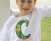 Nonja Turtle inital name shirt