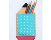 Pencil Real Pocket Back to School Applique Machine Embroidery Design in 3 Sizes Project In The Hoop  ITH023