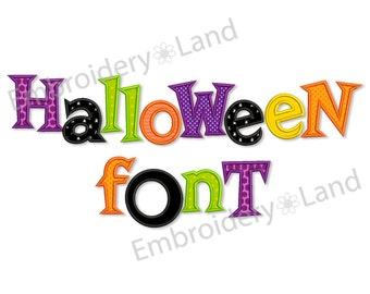 BX font included! Halloween Applique Alphabet Font Machine Embroidery Design 4 sizes Uppercase letters, Small letters and Numbers AL027