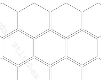 Number Names Worksheets hexagon printable template : hexagon template – Etsy
