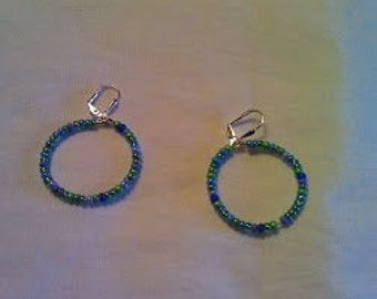 Multi-Colored Blue Hoops