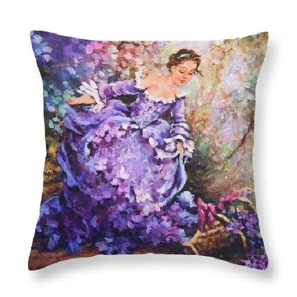 Purple Home Decor Purple Pillow Paris Accent French By