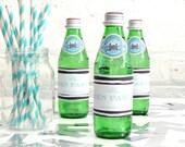 Personalised Hen Party Monochrome Bottle Labels