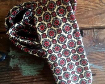 Vintage Filene's Woven Tie Red & Cream Menswear