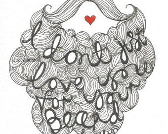 Beard Love - A5 Giclee Print
