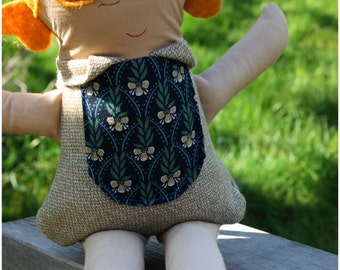 handmade doll, one of a kind, blonde 6