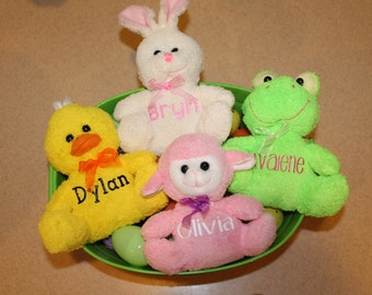 Personalized Plush Easter Animals - ADD ON ONLY