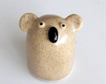 Ceramic Koala Sculpture, Koala Pottery, Koala bear, Handbuilt Pottery, Stoneware