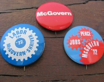 Vintage McGovern Election Buttons