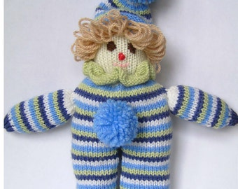 Adorable hand knitted Coco the Clown