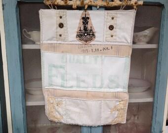 office wall organizer, wall organizer, farmhouse wall organizer, vintage sacks, office organizer, mail holder