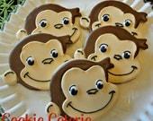 Curious George Monkey Birthday Cookies One Dozen