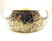 DO NOT BUY On Hold for Katherine: Sterling Bracelet Lustrous Engraved Floral Design Signed Forstner Sterling Gorgeous Piece Nielo