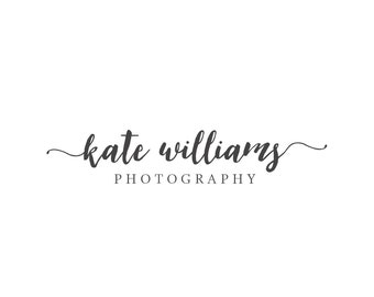 Premade Photography Logo and Watermark,  Classic Elegant Script Font Watercolor Calligraphy Logo 280