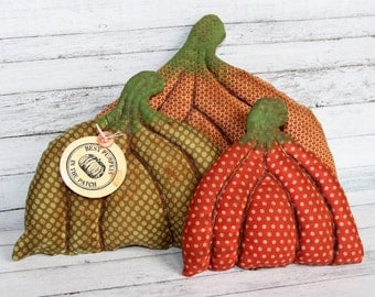Primitive Fall Pumpkin Patch Flat Pumpkins