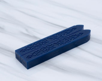 Navy Blue Sealing Wax - standard or fit for glue gun (set of two) - Color U