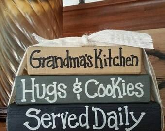 Grandma's Kitchen - Wood block set