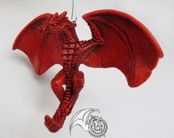 NEW Red Dragon Ornament