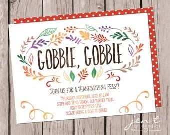 Thanksgiving Invites - Gobble, Gobble