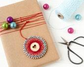 Christmas Ornament Kit, String Art Ornament, DIY Craft Kit, Heart Ornament