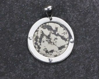 Silver Pendant with Mica