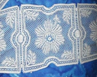 No. 100 LOT OF Antique French Valenciennes Lace Square Medallions (Sold by the Piece) 45 Total Pieces