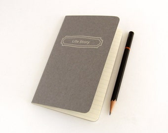 Personalized Moleskine Cahier Notebook - Pebble Gray